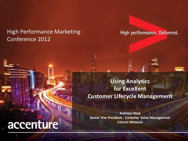 High Performance MarketingConference 2012                                    Using Analytics                              ...