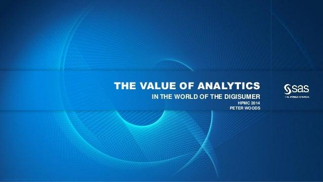 HPMC 2014 - The value of analytics - SAS