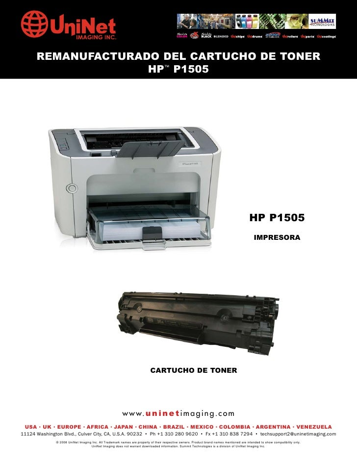 REMANUFACTURADO DEL CARTUCHO DE TONER                     HP™ P1505                                                       ...