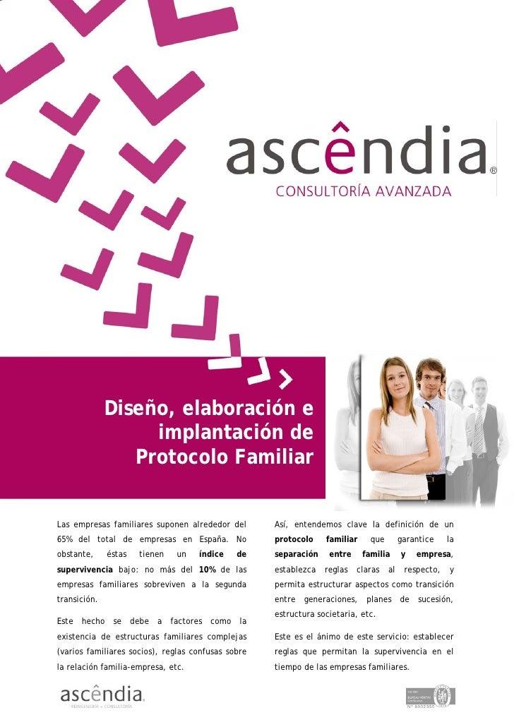 Diseño, elaboración e                    implantación de                  Protocolo Familiar   Las empresas familiares sup...