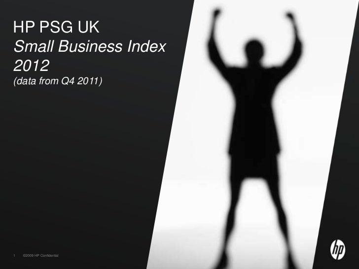 HP SME Index January 2012