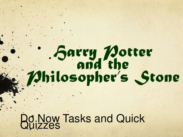 Harry Potter and the Philosopher's Stone<br />Do Now Tasks and Quick Quizzes<br />