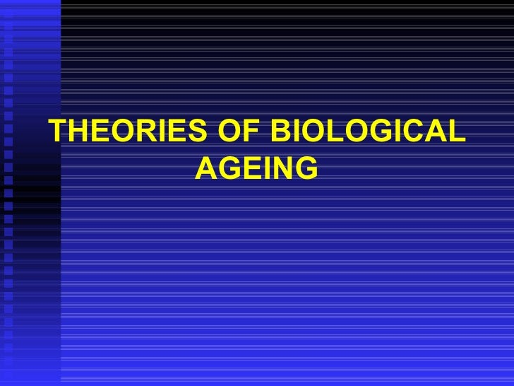 THEORIES OF BIOLOGICAL AGEING