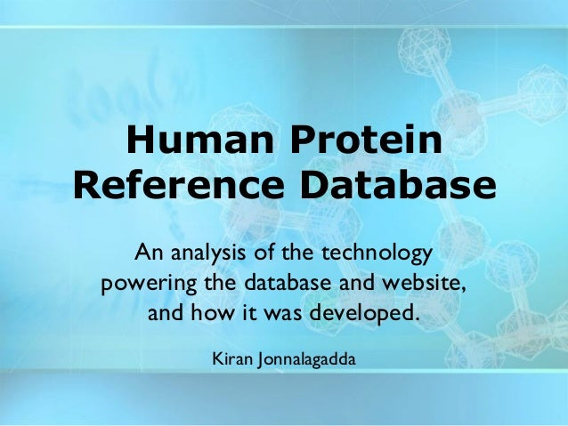 The technology of the Human Protein Reference Database (draft, 2003)