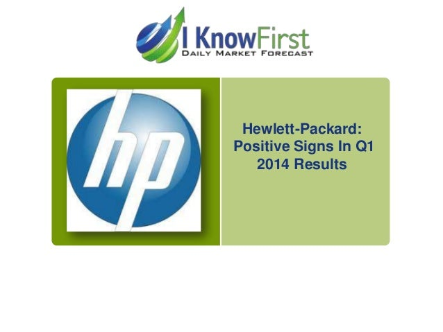 Hewlett-Packard: Positive Signs In Q1 2014 Results