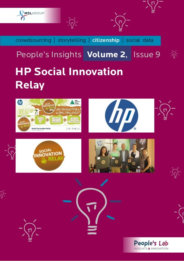 HP Social Innovation Relay: People's Insights Vol. 2 Issue 9