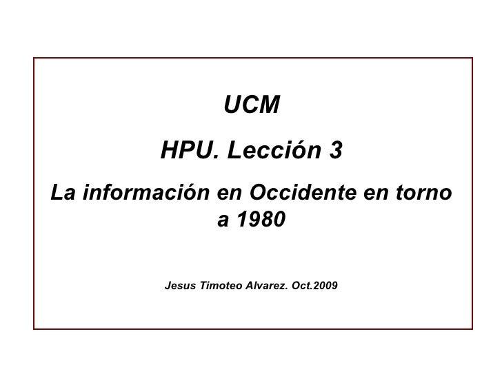 Hpu.Lecc 3. Periodismo 1980