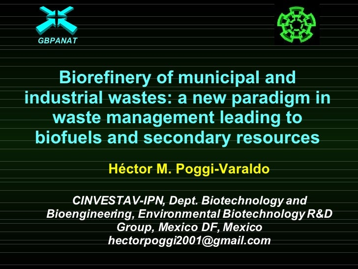 Biorefinery of municipal and industrial wastes: a new paradigm in waste management leading to biofuels and secondary resou...