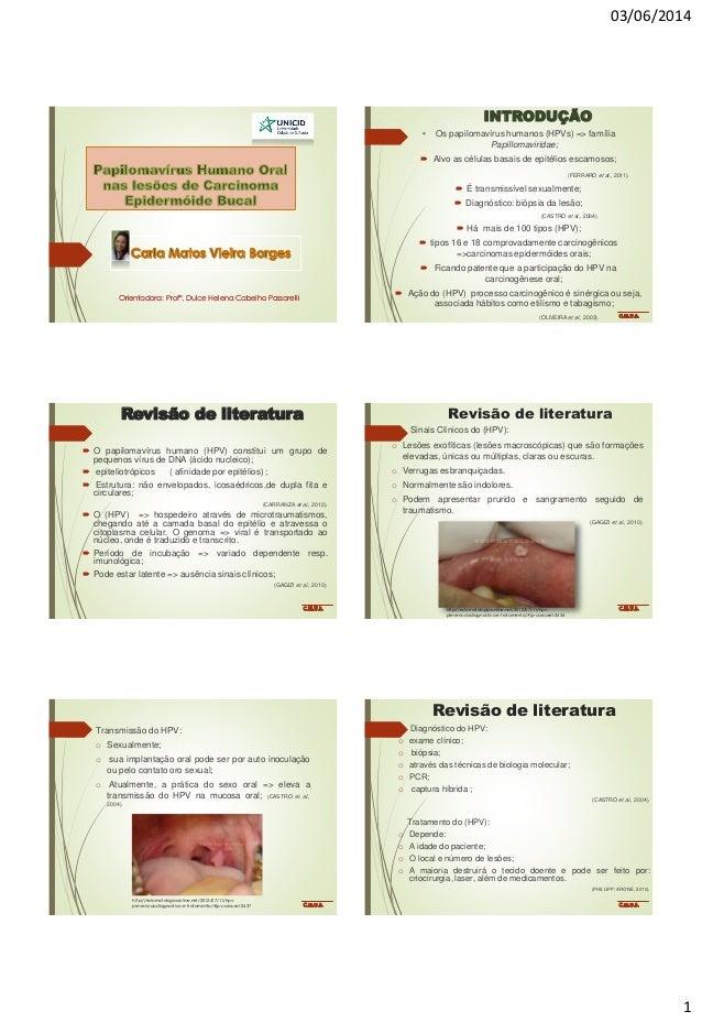 03/06/2014 1 Orientadora: Profª. Dulce Helena Cabelho Passarelli INTRODUÇÃO • Os papilomavírus humanos (HPVs) => família P...