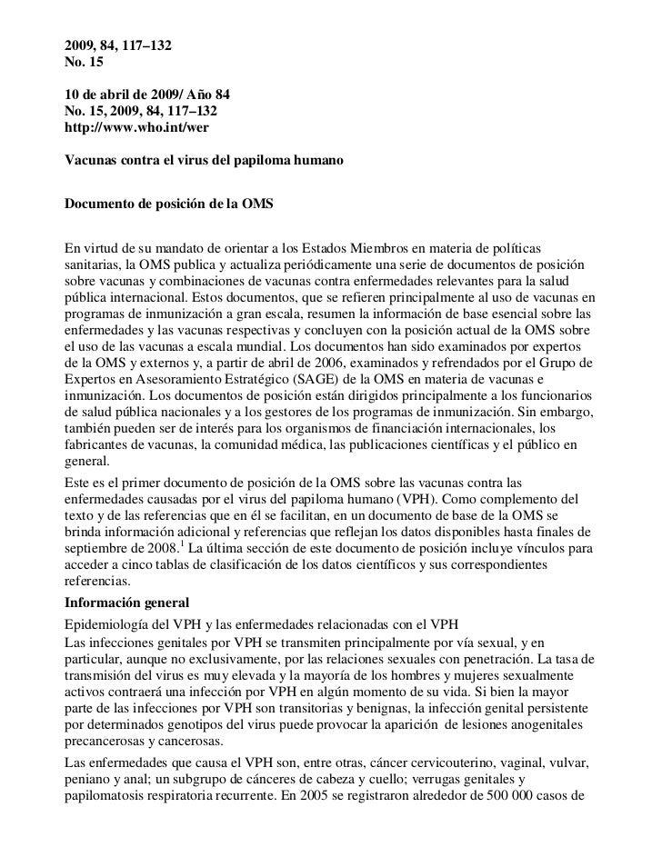 2009, 84, 117–132No. 1510 de abril de 2009/ Año 84No. 15, 2009, 84, 117–132http://www.who.int/werVacunas contra el virus d...