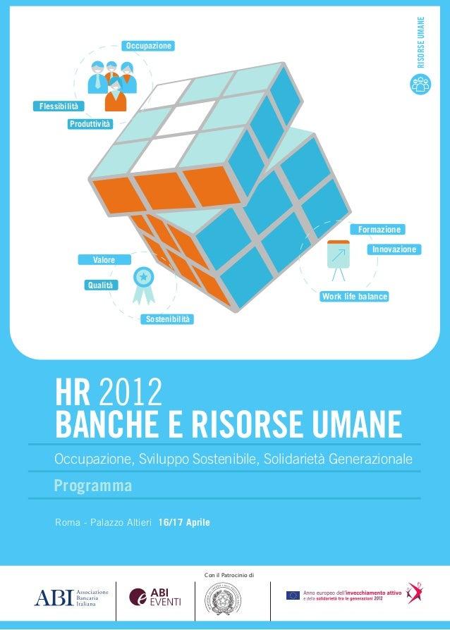 HR 2012 Banche e Risorse Umane