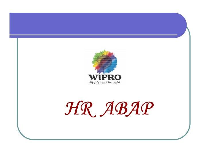 HR ABAP