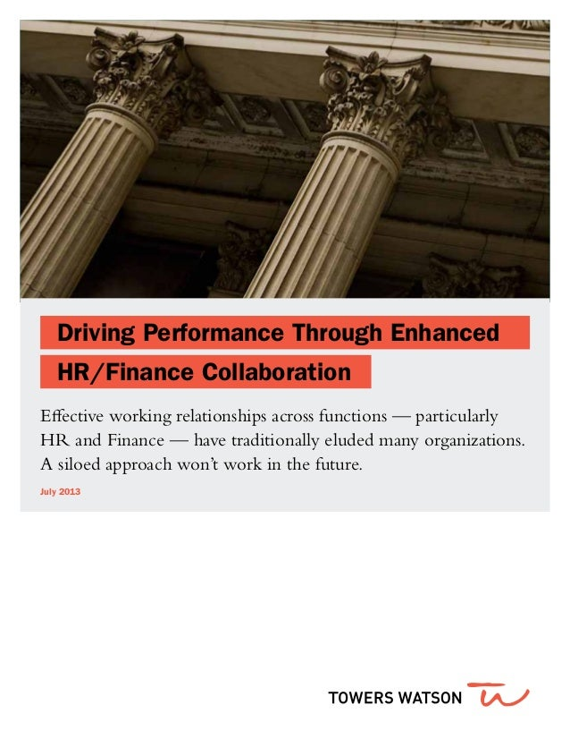HR & Finance Partnership Opportunities Ttowers-Watson