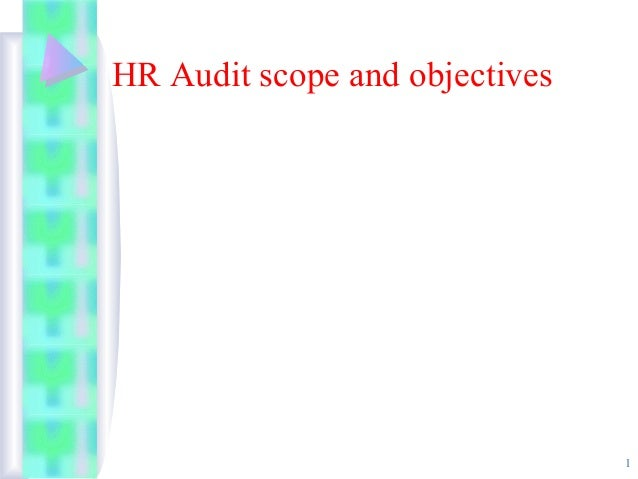 Hr audit scope and objective