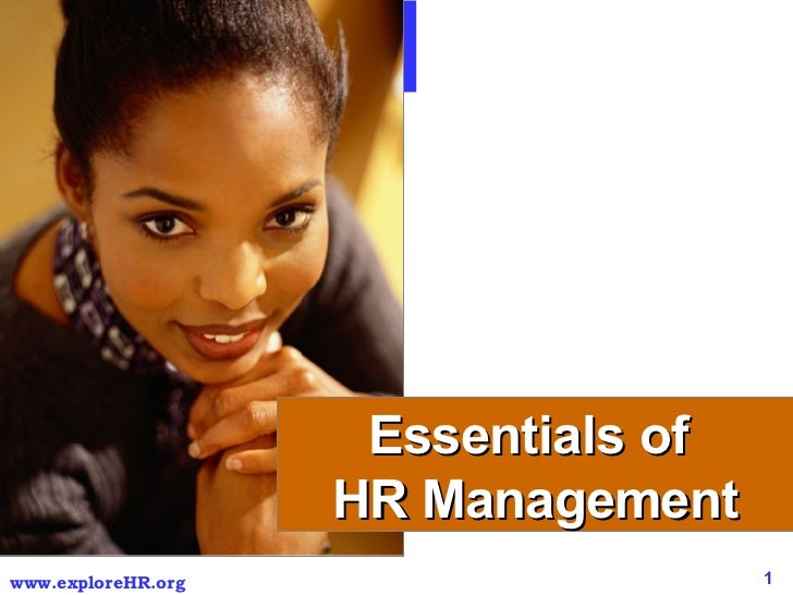 HR Management for Non HR Managers Essentials of  HR Management