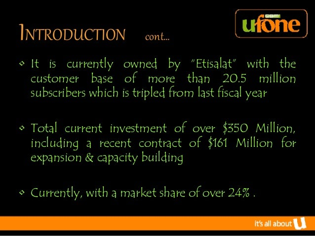 mission statement of ufone Toyota motor corporation's mission statement and vision statement are discussed in this case study and analysis to determine their influence on the company.