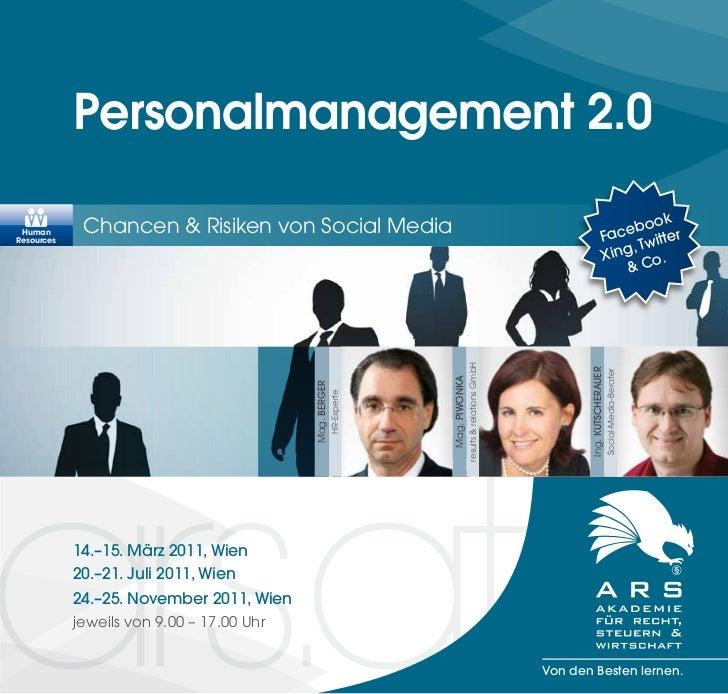 Personalmanagement 2.0             Chancen & Risiken von Social Media                                                     ...