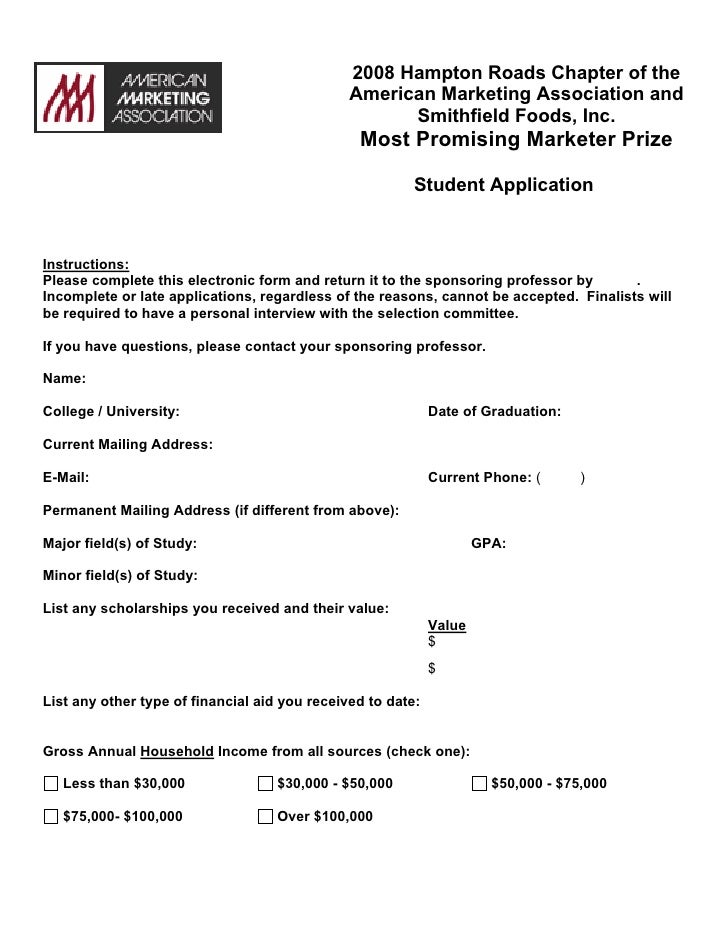 HRAMA Most Promising Marketer Prize Application 2007-2008