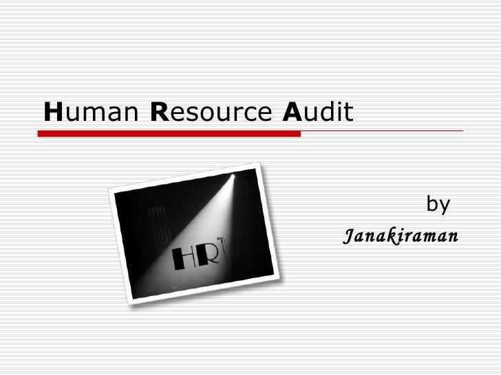 H uman  R esource  A udit by  Janakiraman