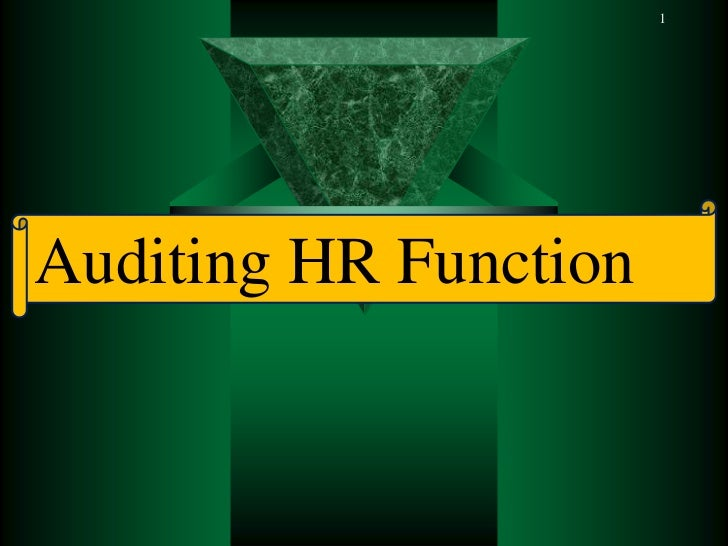 1Auditing HR Function
