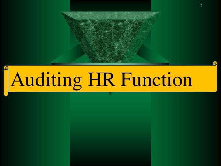 Human resource auditing