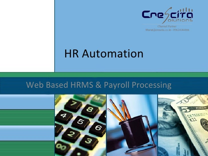 HR Automation Web Based HRMS & Payroll Processing