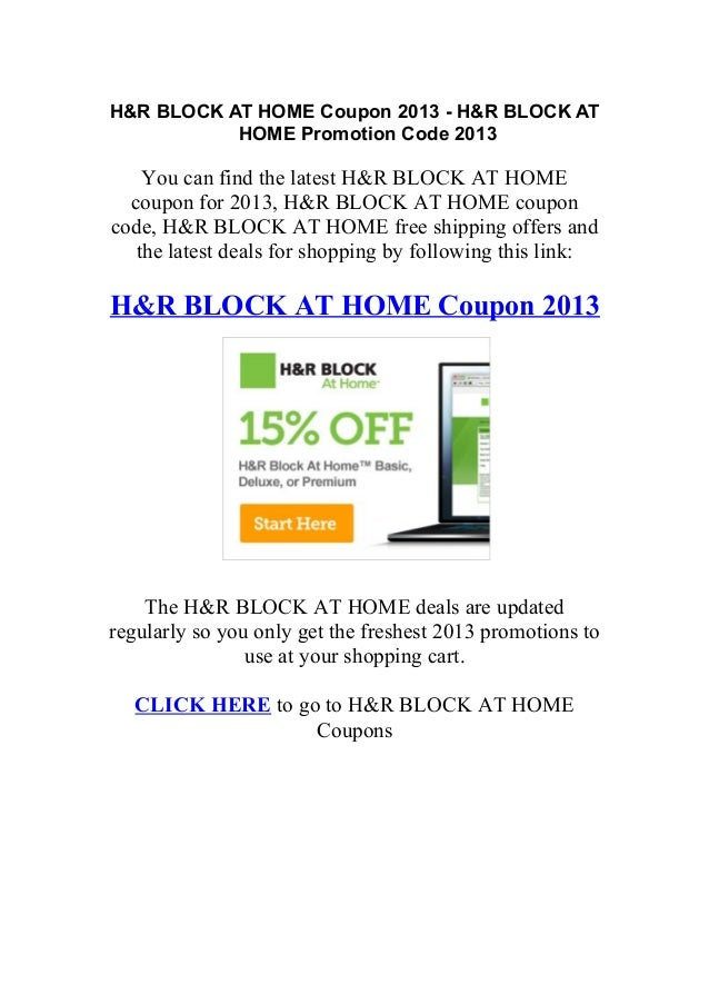 H and r block coupon code