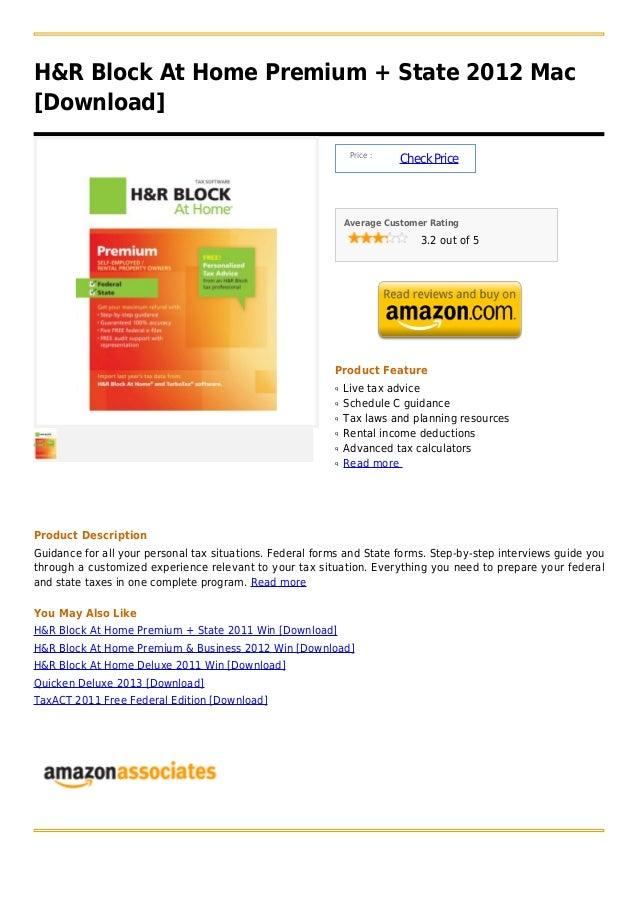 H&R Block At Home Premium + State 2012 Mac[Download]                                                               Price :...