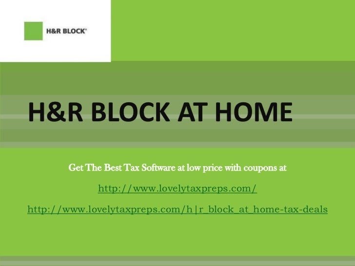 H&R Block At Home Software with Coupons