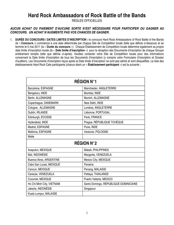 Hrc battle of the bands reglement   francais
