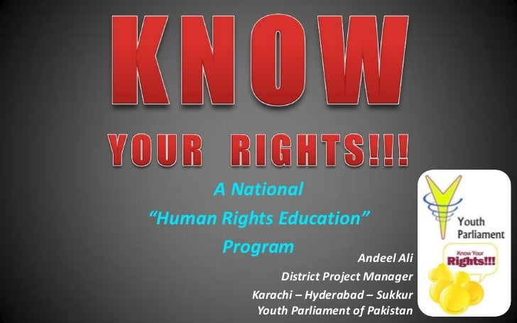 "A National""Human Rights Education""       Program         Andeel Ali                 District Project Manager            Ka..."