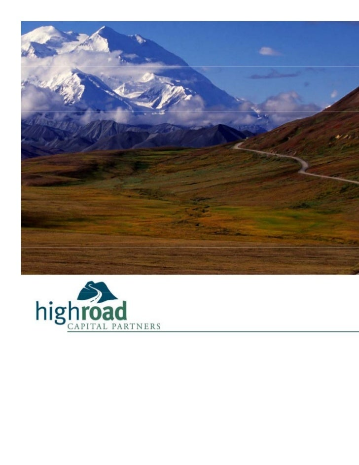 High Road Capital Partners Keynote @ Deal Sourcing Conference