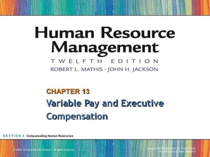CHAPTER 13 Variable Pay and Executive Compensation S E C T I O N  4   Compensating Human Resources