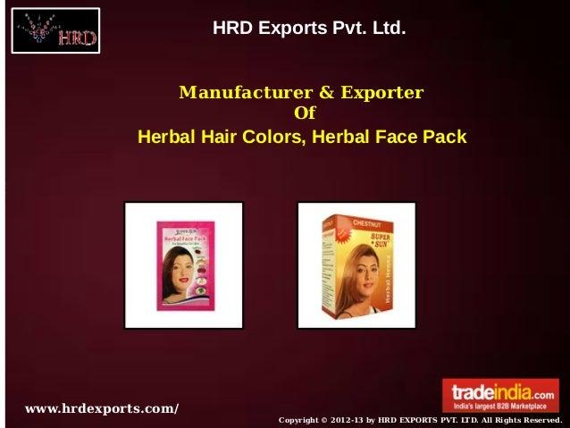 HRD Exports Pvt. Ltd.                  Manufacturer & Exporter                            Of             Herbal Hair Color...
