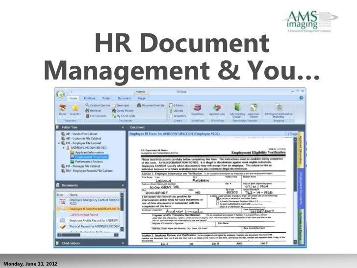 HR Document               Management & You…Monday, June 11, 2012