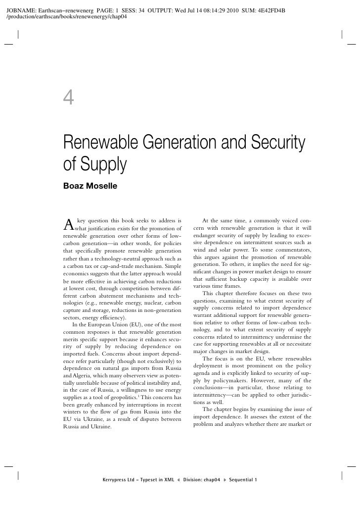 4  Renewable Generation and Security of Supply Boaz Moselle    A      key question this book seeks to address is       wha...