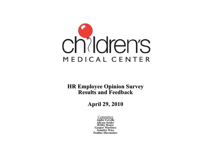 Hr Employee Opinion Survey Div Mtg April 2010