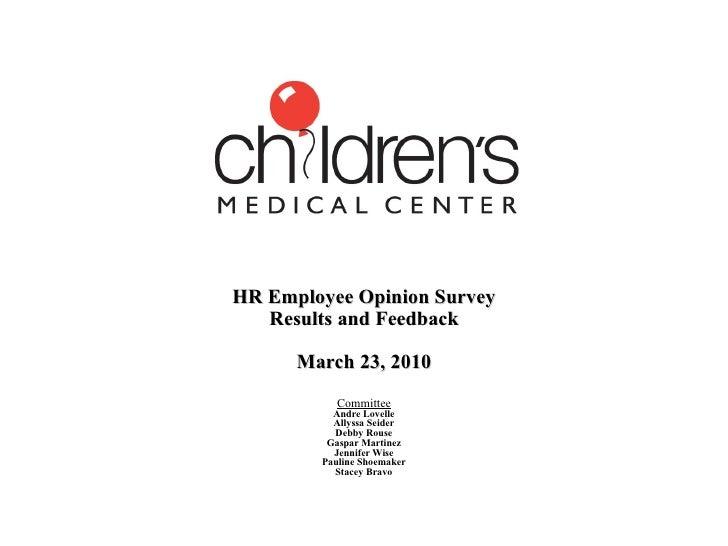 Hr Employee Opinion Survey Div Mtg Presentation March 2010