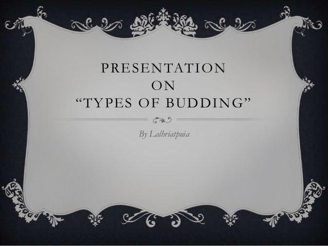 TYPES OF BUDDING