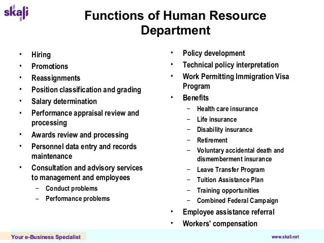 personnel department effectiveness and functions Human resource management functions finding of both tactical and strategic functions for the development of human resources mock hr-department or the.