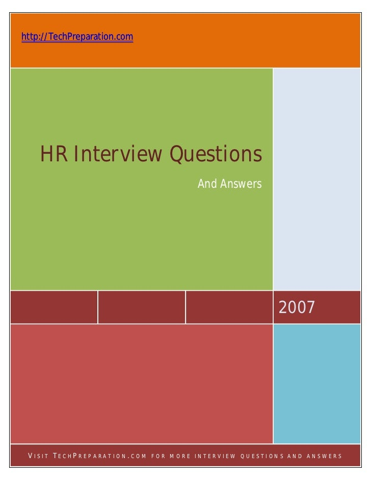 http://TechPreparation.com    HR Interview Questions                                      And Answers                     ...