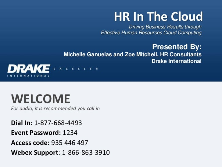 HR In The Cloud                                                       Driving Business Results through                    ...