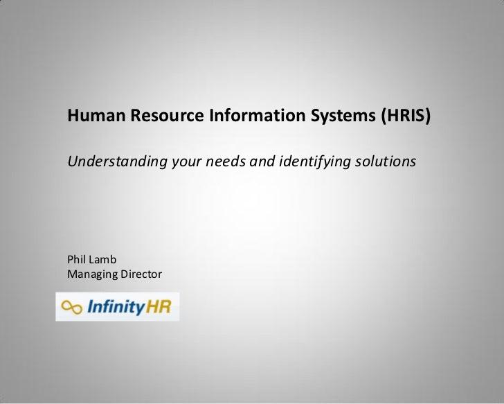 human resource information systems hris pdf