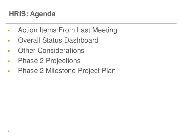 work meeting agenda