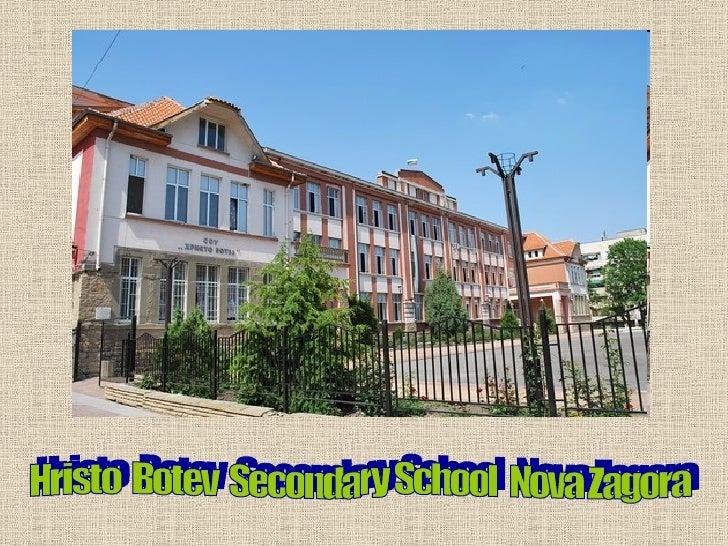 Hristo  Botev  Secondary School  Nova Zagora