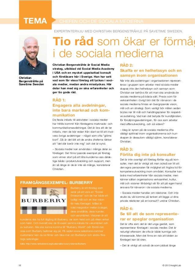 Intervju med Christian Bergenstråhle om Sociala medier