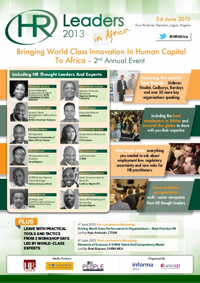 HR Leaders in Africa 2013