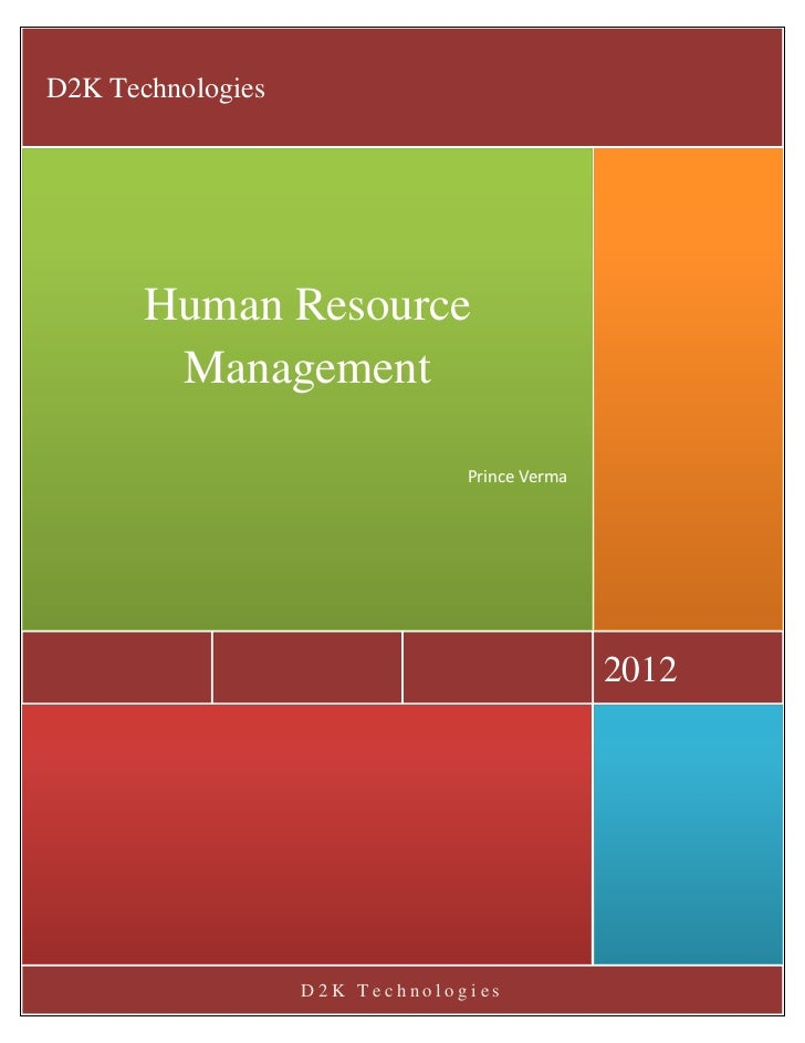 D2K Technologies       Human Resource        Management                                Prince Verma                       ...