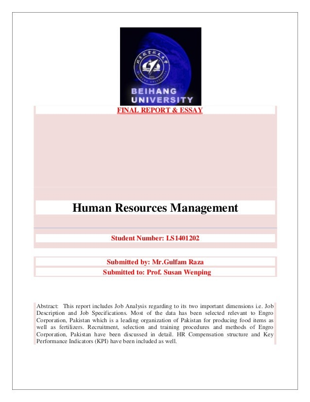 Human Resources Essays