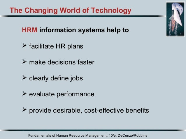hrm chapter 1 The purpose of this chapter is to explain what ties for effective human resource management under the following general headings: 1.